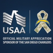 USAA and Chargers logo