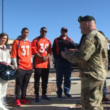 Broncos at Fort Carson