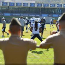Chargers give troops unforgettable experience