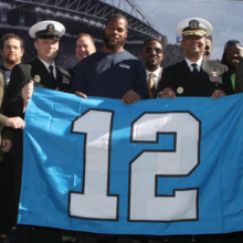 Seahawks and Navy 12th Man